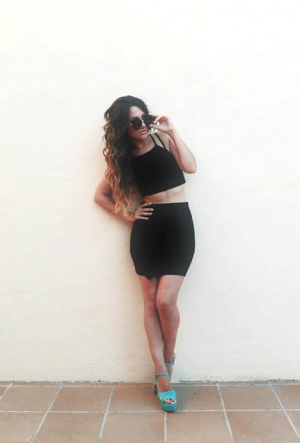 Outfit top negro