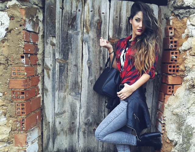 Outfit camisa cuadros