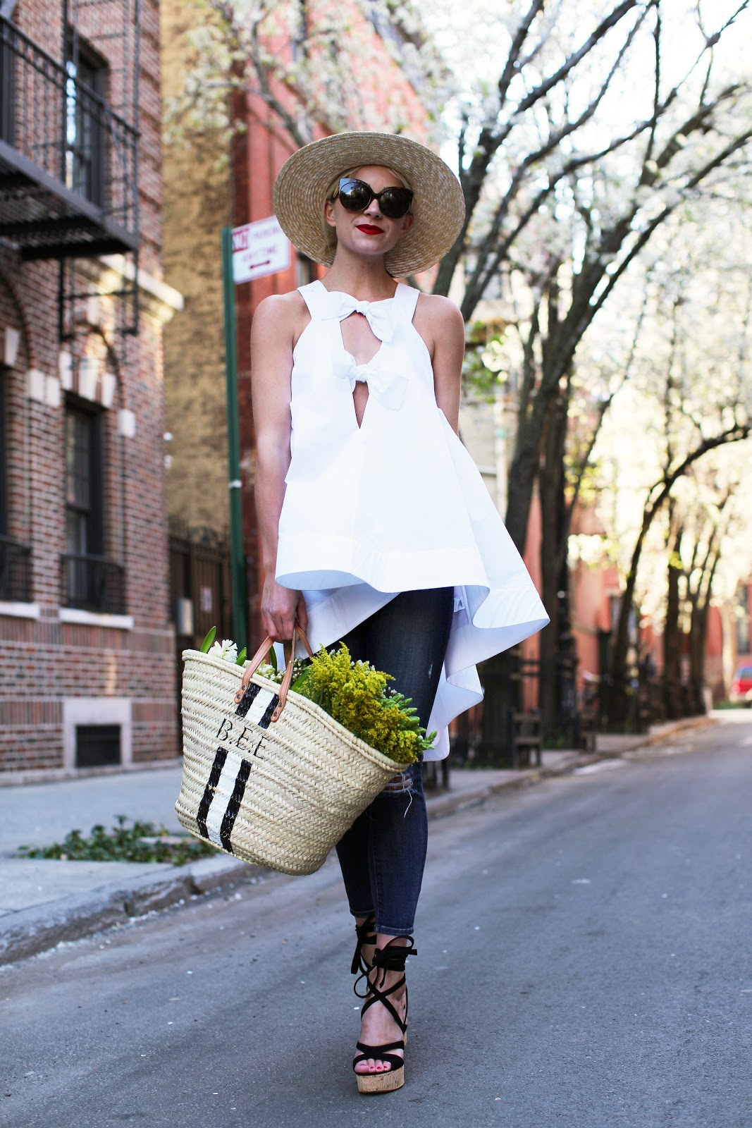 4.-white-hi-lo-top-with-jeans-and-straw-bag